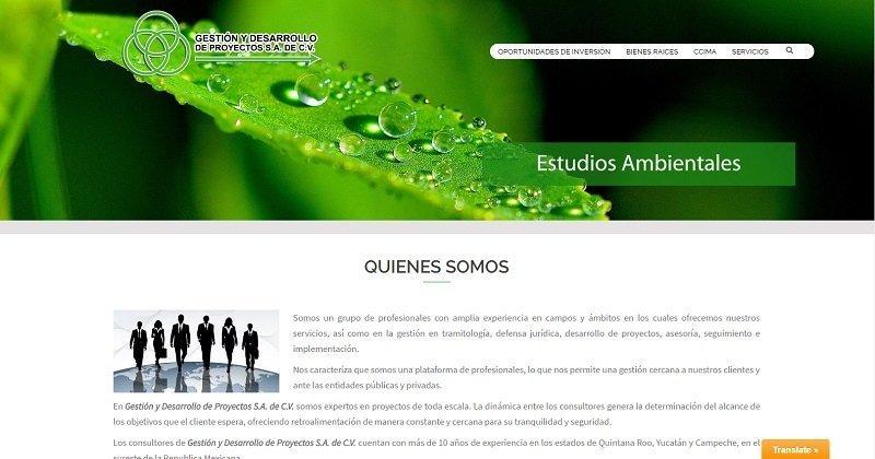 Renovación de página web gestionydesarrollodeproyectos.com