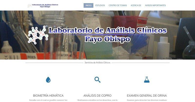 Diseño de página web para payoobispo.com