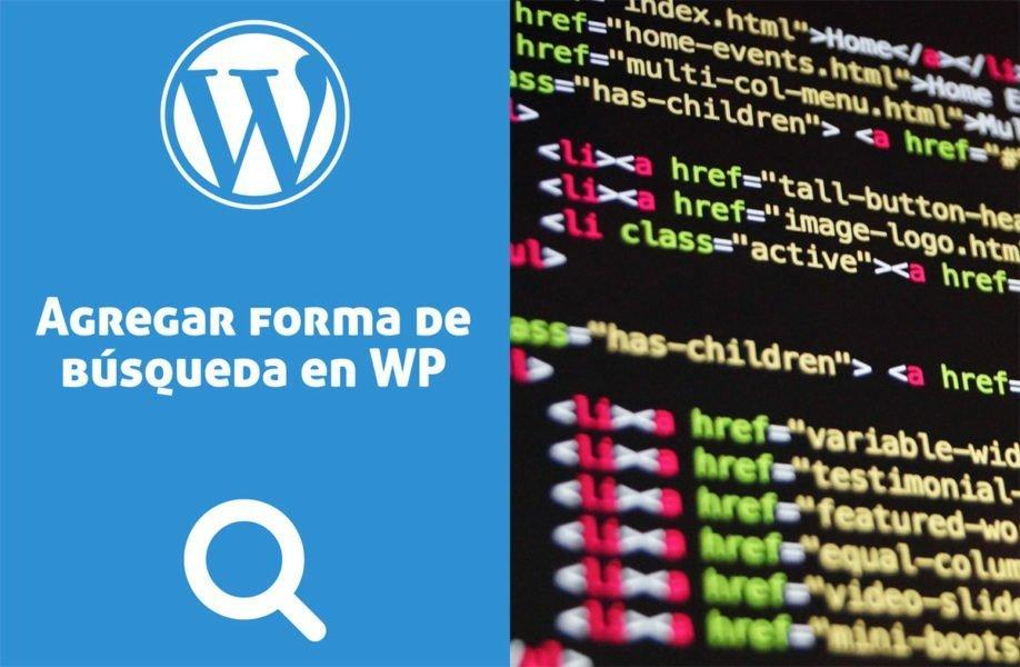 Agregar formulario de búsqueda en un menú de WordPress