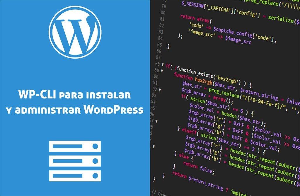 Usar WP-CLI para instalar y administrar WordPress